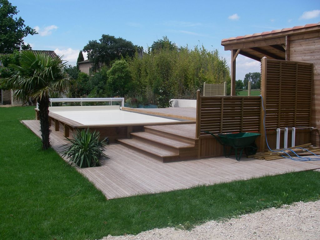 Am nagement exterieur avignon terrasses bois l 39 isle sur la - Photo amenagement terrasse exterieur ...